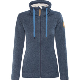 Elkline Kaminzimmer Fleece Jacket Damen Blueshadow-Offwhite